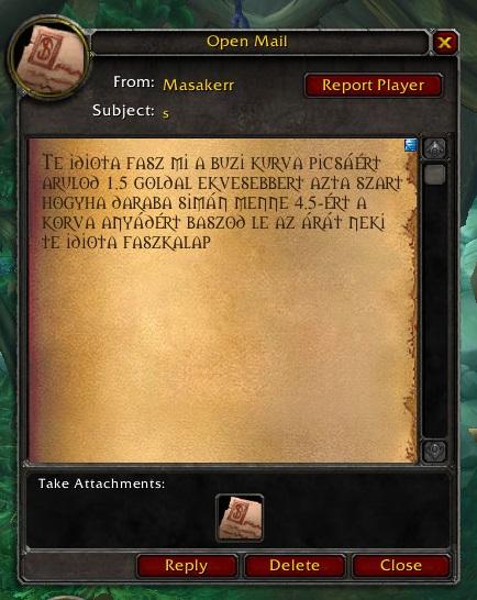 levél jött ragnaroson